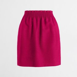 J.Crew Factory Raspberry Pink Wool Sidewalk Skirt